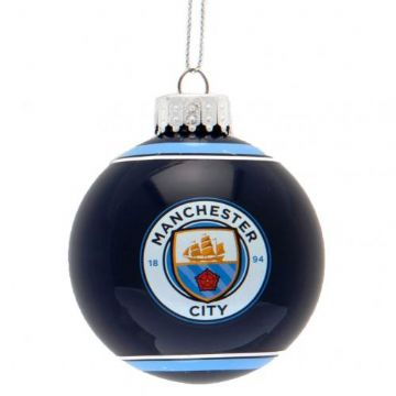 Manchester City Glass Bauble